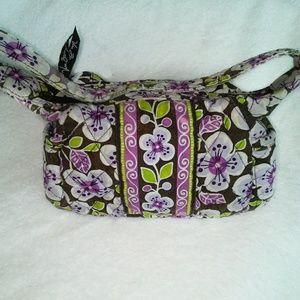 Vera Bradley Plum Petals small bag purple brown